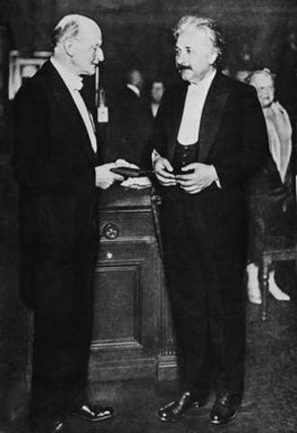 Einstein is Awarded the Nobel Prize in Physics