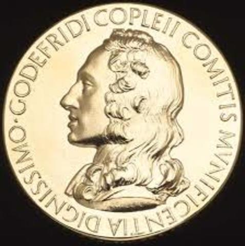 Einstein is Awarded the Copley Medal