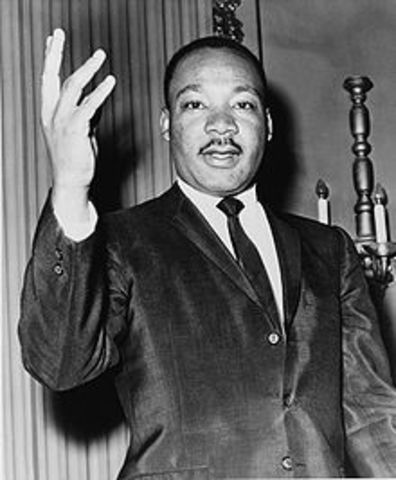 Martin Luther King, Jr. shot and assassinated