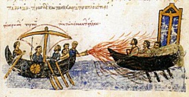 Υποχώρηση Αράβων από την πολιορκία της Κωνσταντινούπολης και το Υγρό Πυρ