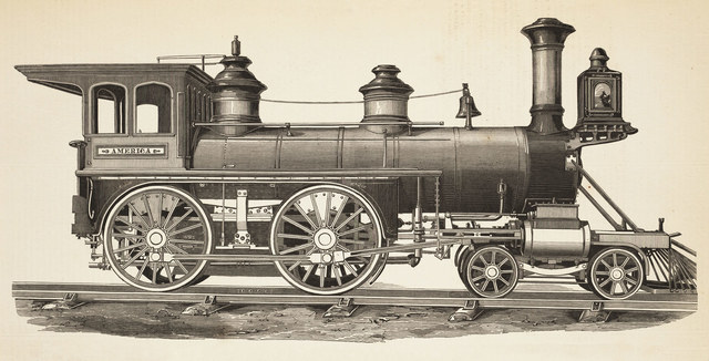 The locomotive was created