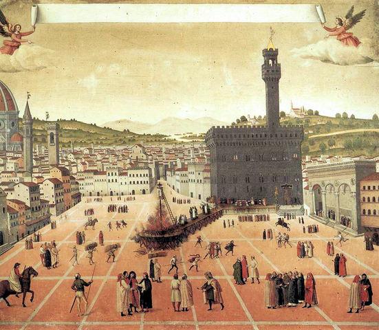 Savonarola Arso in piazza della Signoria
