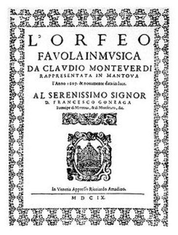 La première de l'opéra Orfeo