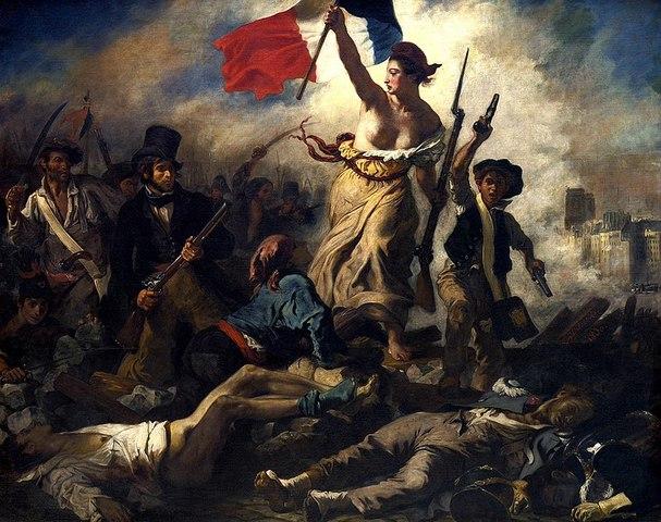 La llibertat guiant el poble - Delacroix