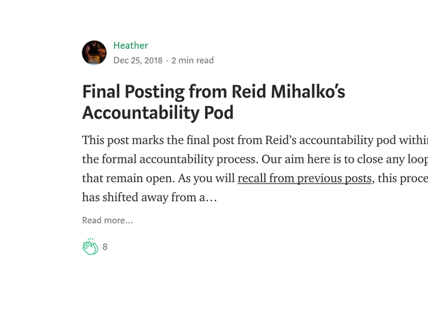 Reid's Pod Announces Formal Process Has Ended