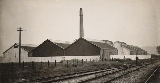 Mustad's nail factory built