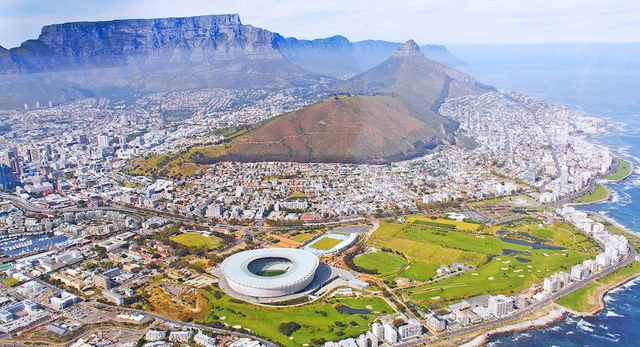 Cape Town, South Africa is taken from the Dutch
