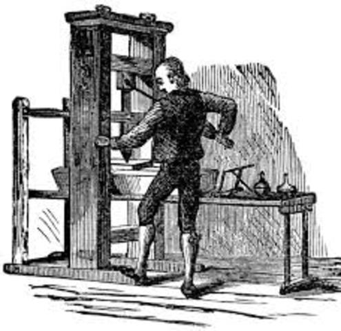 The First Printing Press in the American Colonies