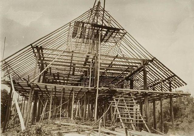 Skelet van een huis