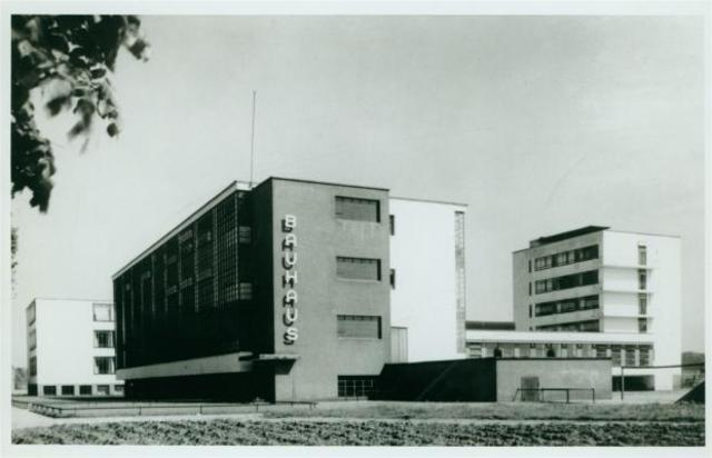 Walter Gropius - Bauhaus Buildings (front) Dessau
