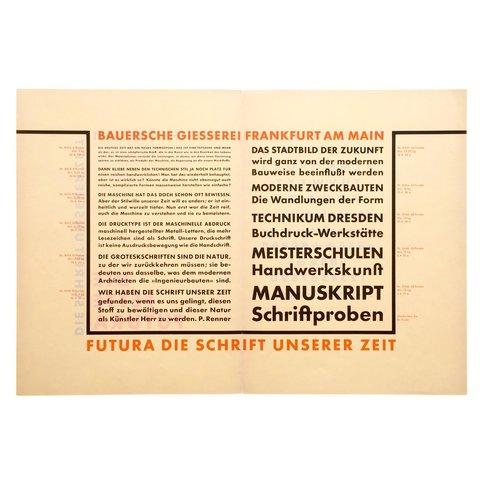 Paul Renner - Futura Typeface