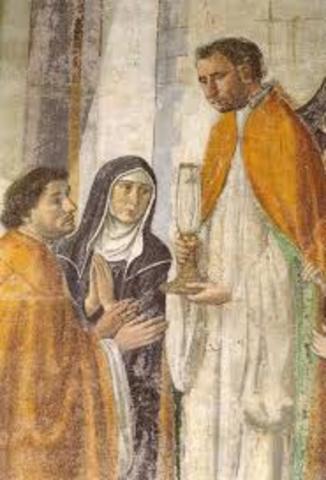 Sant'Ambrogio: Miracolo Sangue nel Calice
