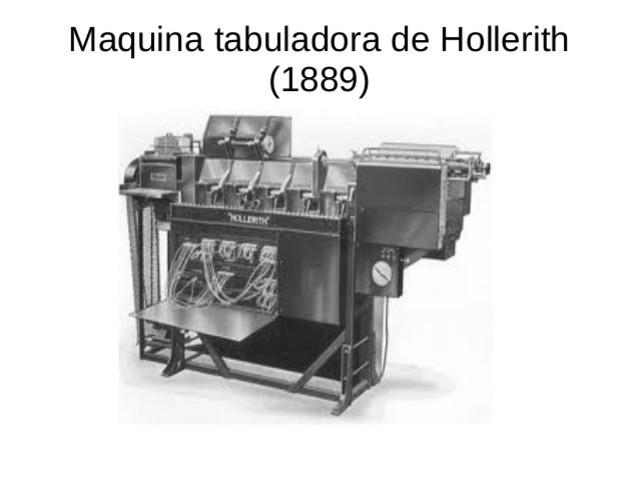 Maquina tabuladora de Hollerith