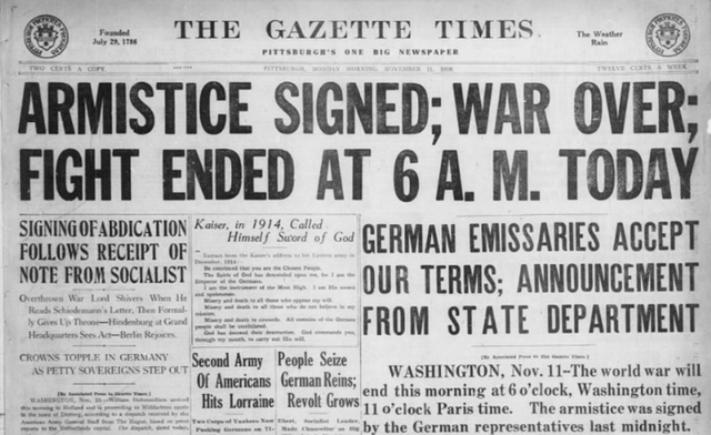 The World War I Armistice