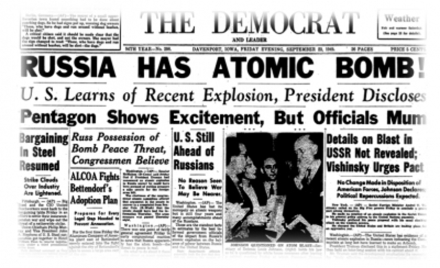 Russians Acquire the Atomic Bomb