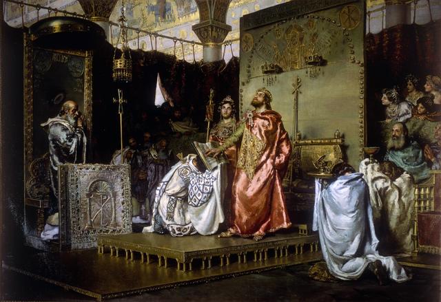 Conversió de Recared al catolicisme.