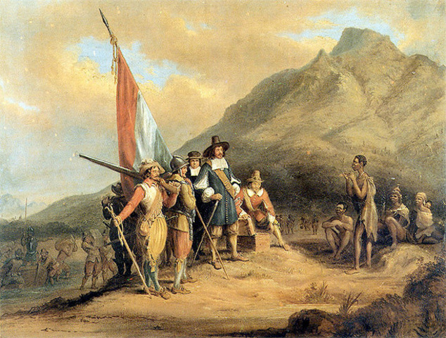 Dutch arrived at the Cape