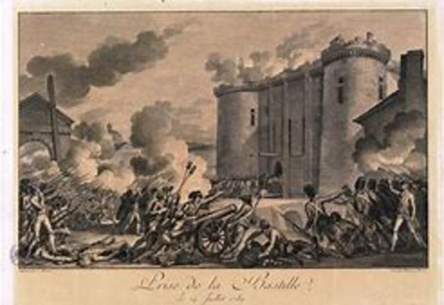 Asalto a la fortaleza de la Bastilla por el pueblo de París