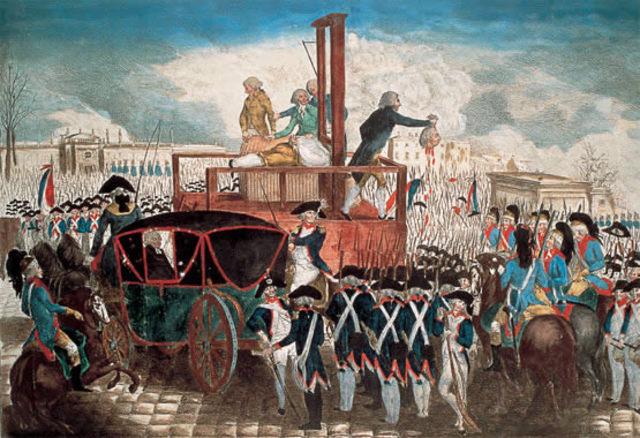 Ejecución del rey Luis XVI por radicales Jacobinos
