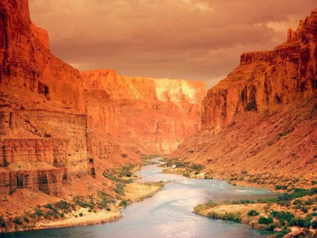 Large Canyon with large river