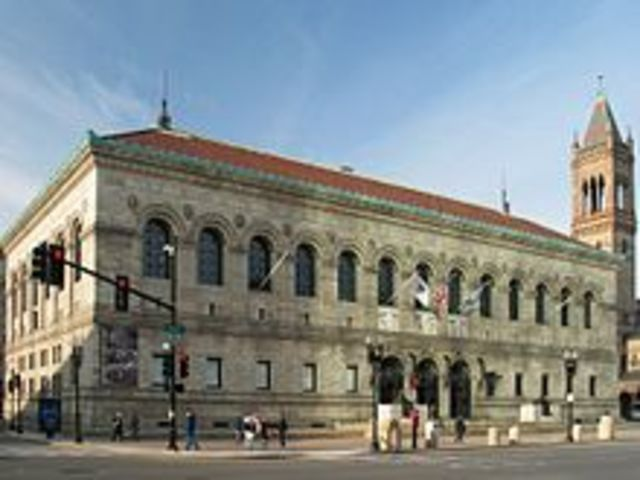 Boston Public Library opened