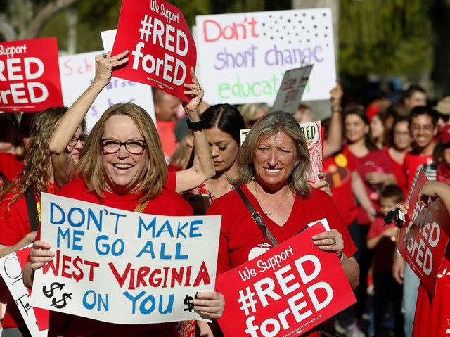 The Arizona teachers strike ends as legislators pass both a pay increase and school-funding plan.