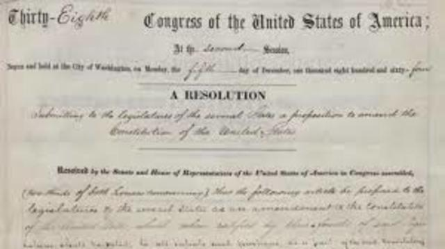Congress Passed the 13th Amendment