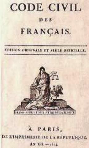 En el Código Penal y el Código Civil de 1810.