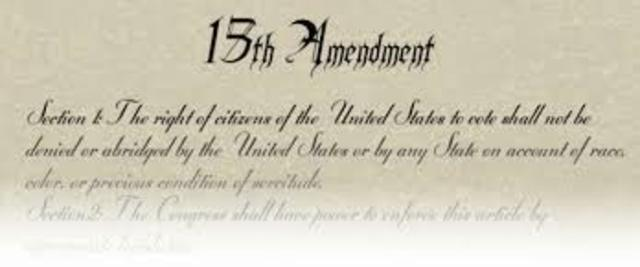 15th Amendment Ratified