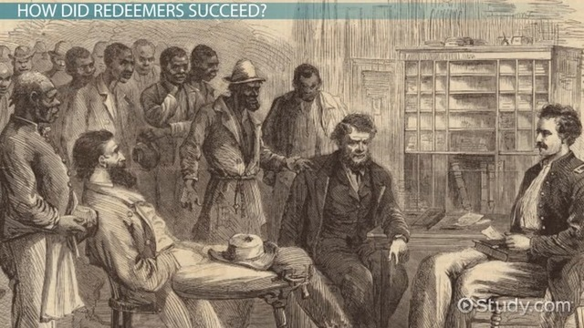 """Period of """"Redemption"""" after the Civil War"""