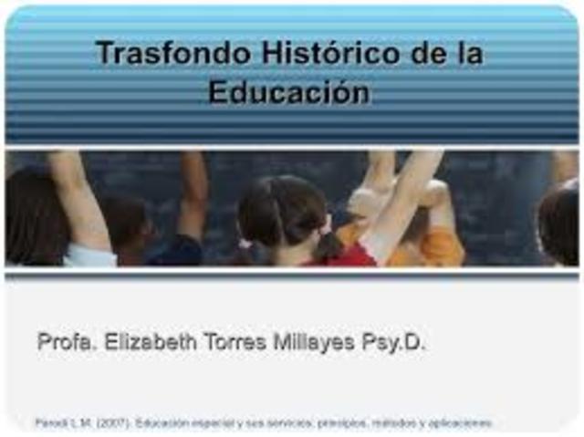Trasfondo de la educación