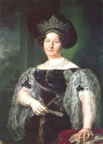 Caída de María Cristina.