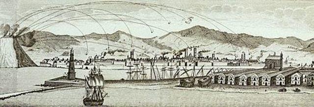Bombardeo en Barcelona.