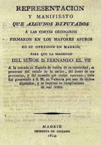 MANIFIESTO DE LOS PERSAS: