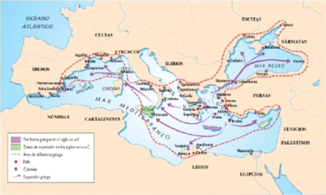 Comienza la colonización griiega de occidente