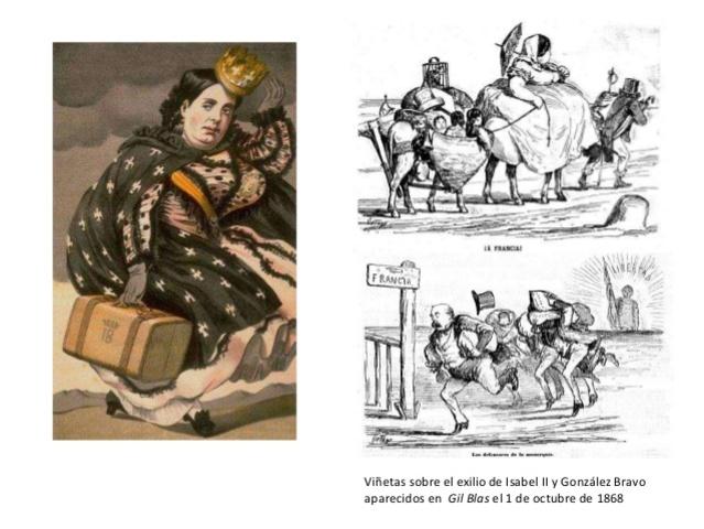 """Revolución:  """"La Gloriosa"""". Exilio de Isabel II"""