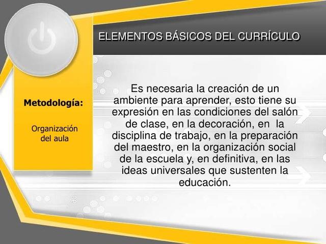 Creación del curriculum