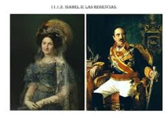 MINORÍA DE EDAD DE ISABEL II: REGENCIAS. (1833-1843)