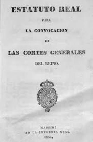 ESTATUTO REAL (1834).