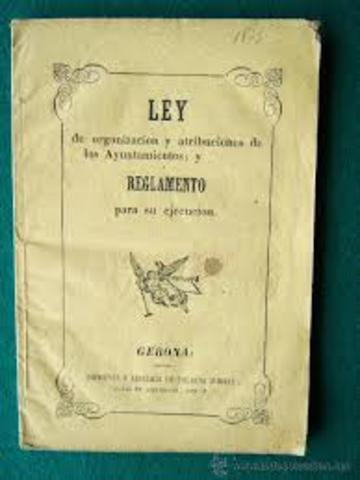 LEY DE AYUNTAMIENTOS (1840).