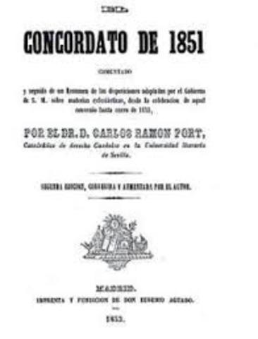 CONCORDATO CON LA SANTA SEDE (1851).