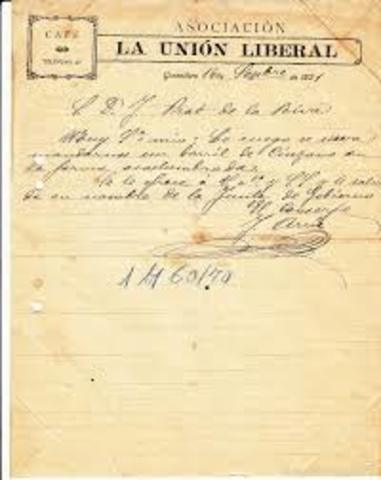 O`DONELL FUNDA LA UNIÓN LIBERAL (1858).