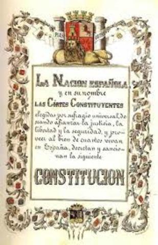 NUEVA CONSTITUCIÓN DEMOCRÁTICA (1869).