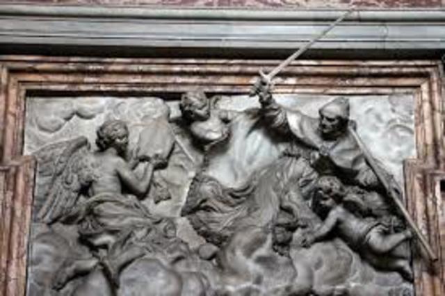 G. B. FOGGINI - S'Andrea guida i Fiorentini nella battaglia di Anghiari