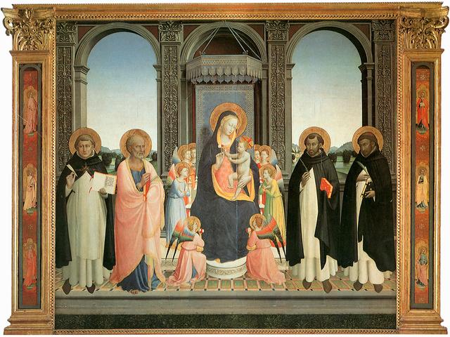 BEATO ANGELICO - Pala di San Domenico