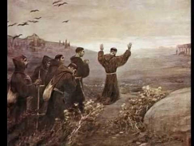 Llegada de los franciscanos para evangelizar