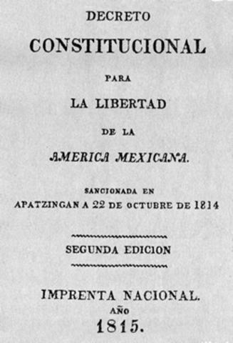Se decreta la constitución de Apatzingán