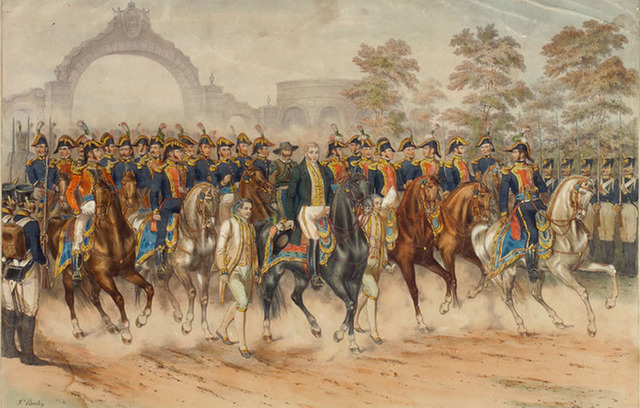 Consumación de la independencia con la entrada triunfal del ejército trigarante