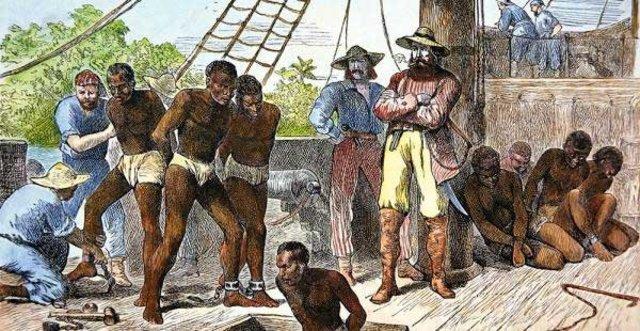 Mercado francés de esclavos negros