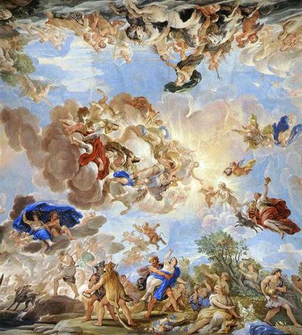 LUCA GIORDANO - Soffitto galleria degli Specchi